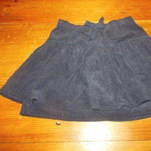 MORGAN & MILO 7 yr Navy Blue Corduroy Tiered Skirt